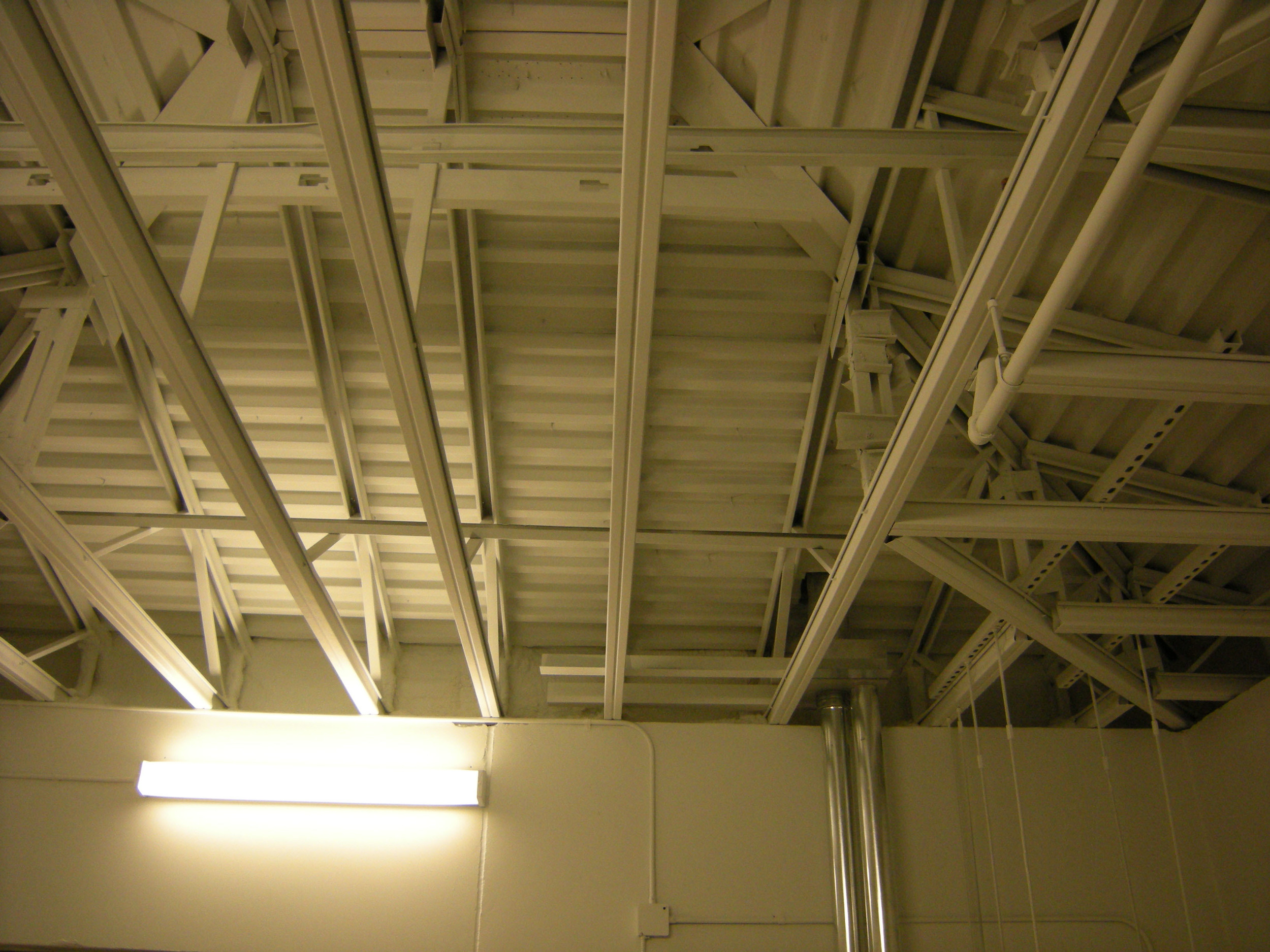 Inside ceiling of the garage