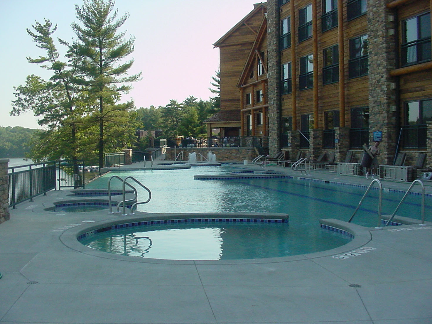 Outdoor pool area at the Wilderness on the Lake in Wisconsin Dells, WI