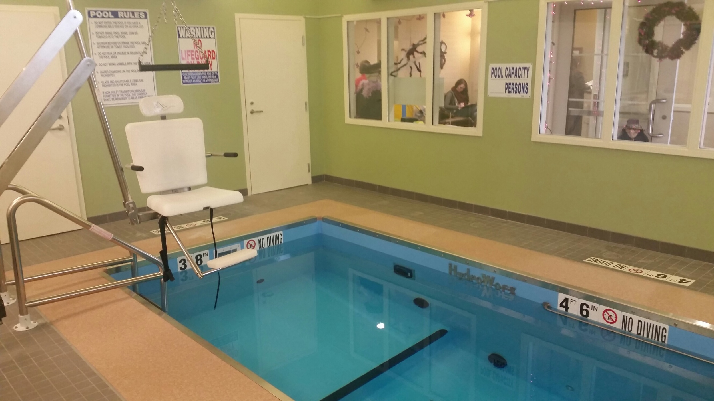 physical therapy pool at Holton manor Nursing Home in Elkhorn, WI