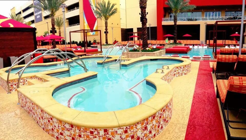 Whirlpool area at the Golden Nugget Hotel & Casino in Biloxi, MN