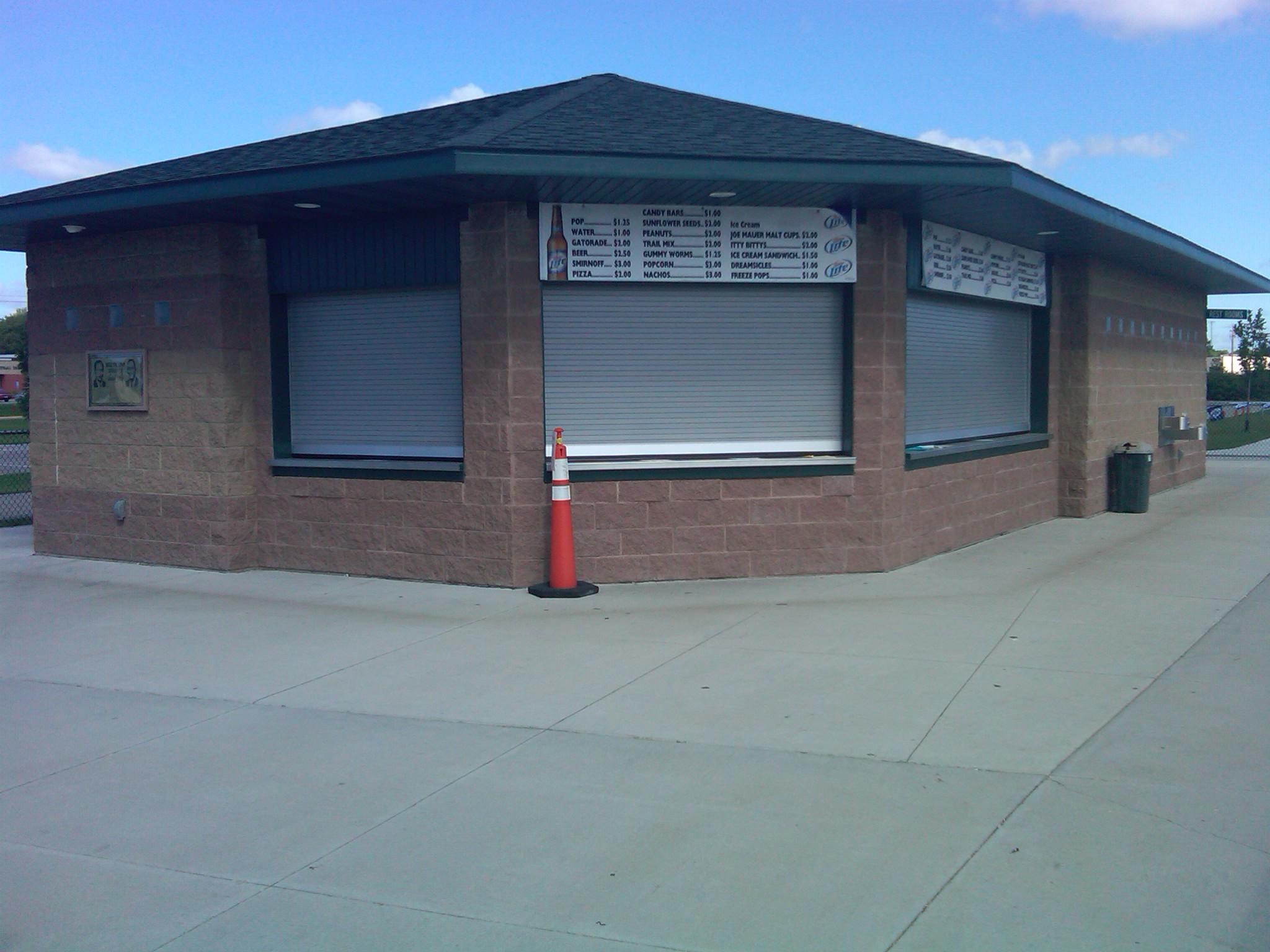 Concession stand at Bill Taunton Stadium in Willmar, MN
