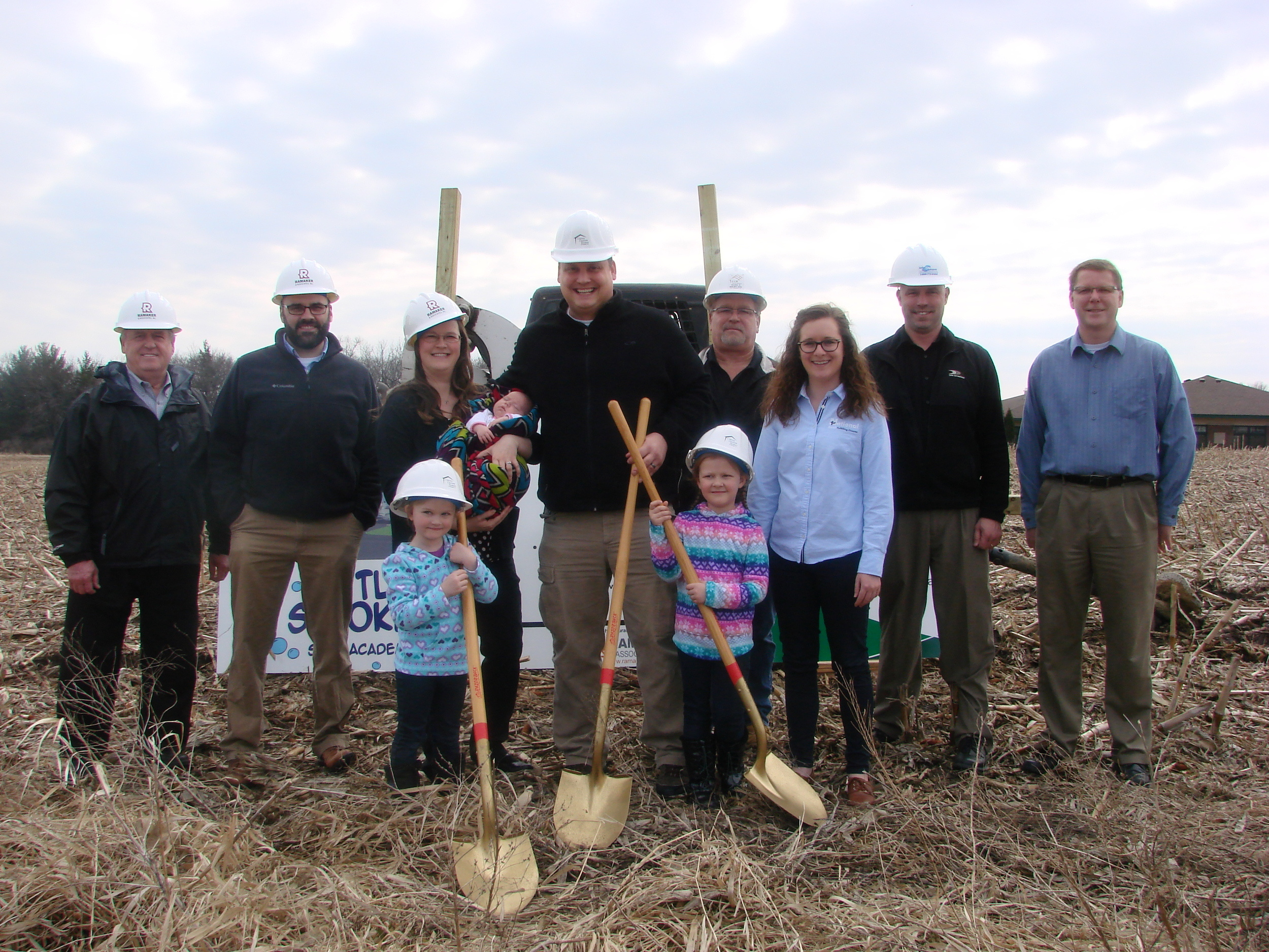 Breaking ground picture at Little Strokes Swim Academy in Waunakee, WI