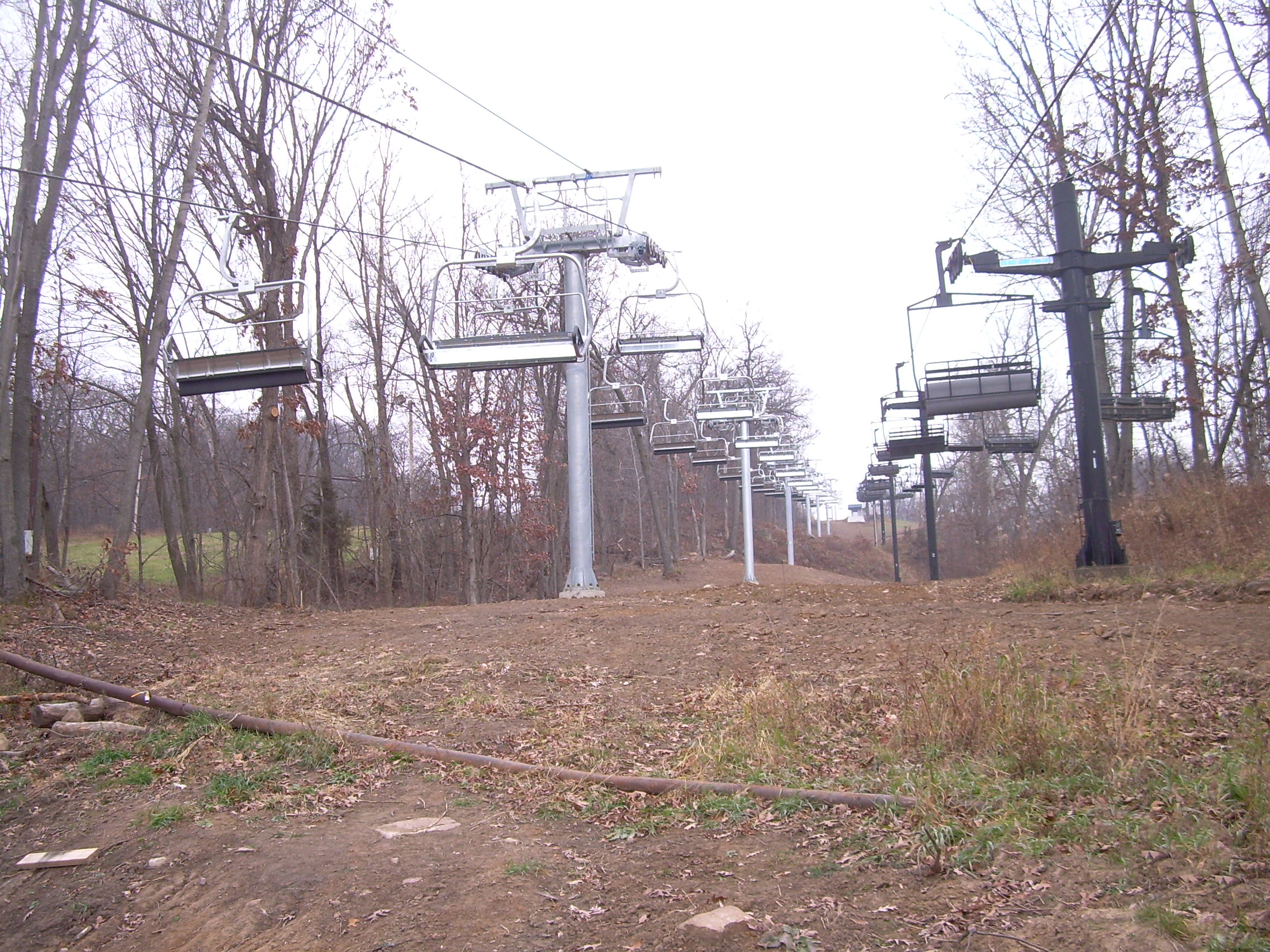 Ski lift at Devils Head in Merriam, WI