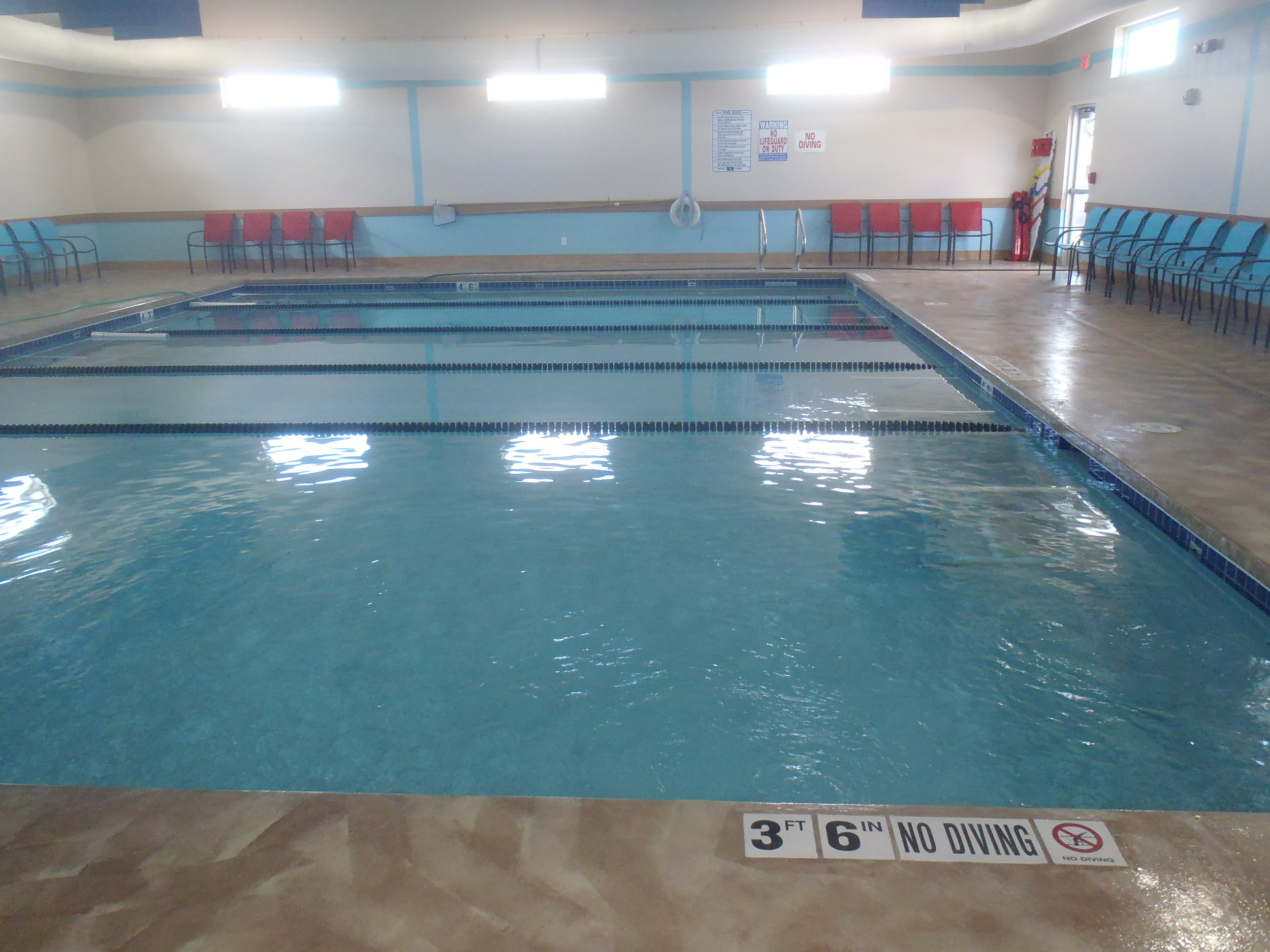Indoor pool at Little Strokes Swim Academy in Waunakee, WI