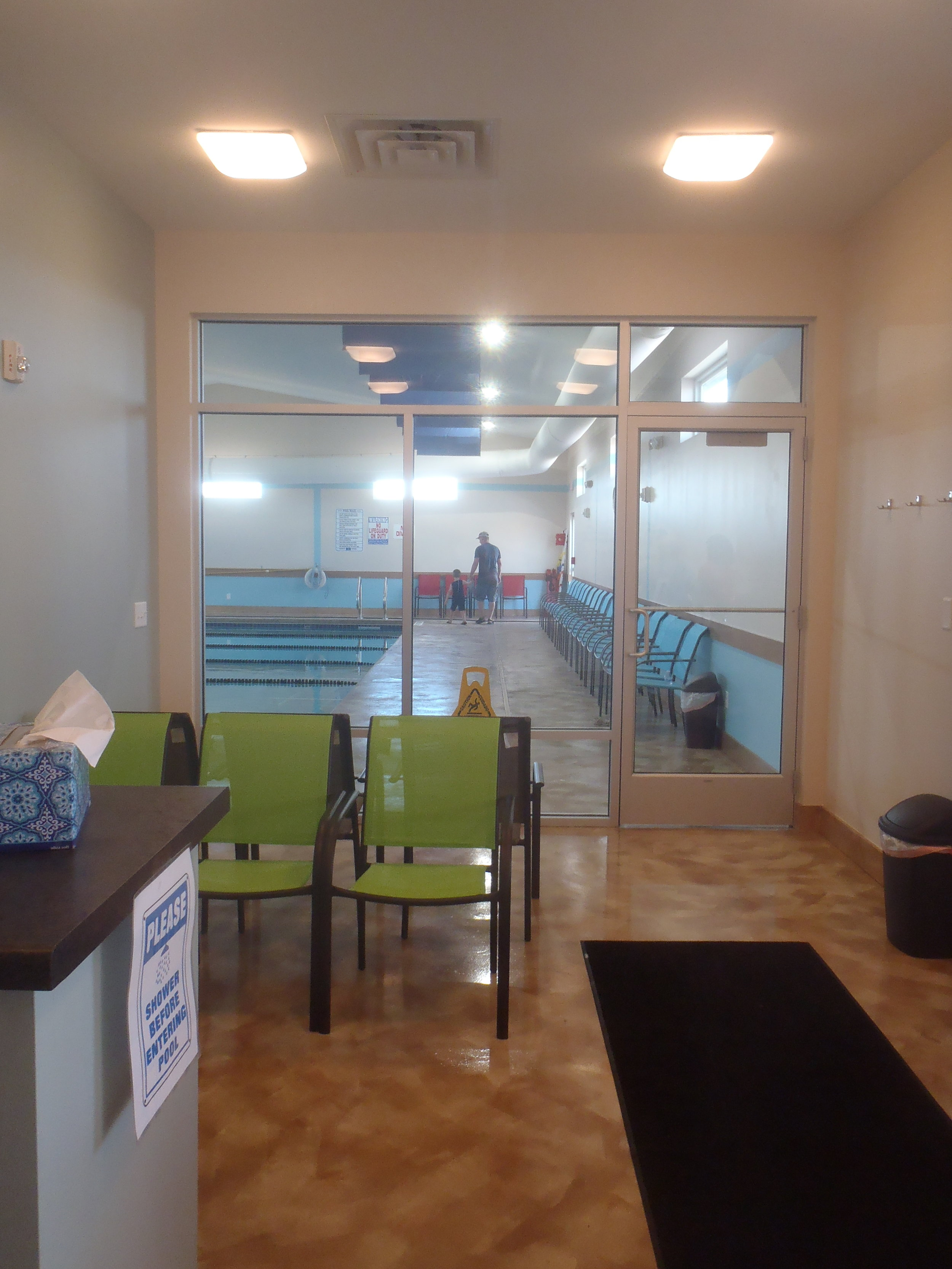 Lobby area at Little Strokes Swim Academy in Waunakee, WI
