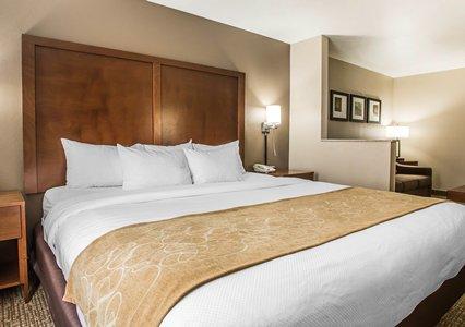 Bedroom in Comfort Suites in Coralville, IA