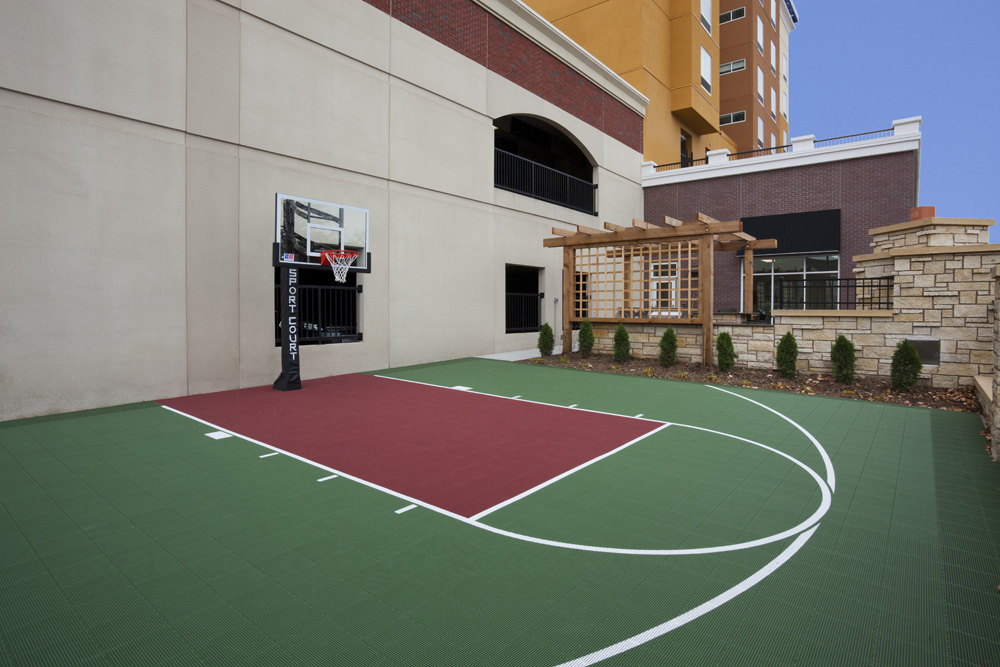 Outdoor basketball court at the Homewood Suites in Rochester, MN