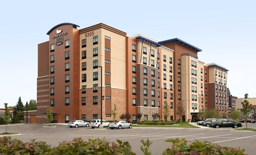 Outside view of the Homewood Suites in St. Louis Park, MN