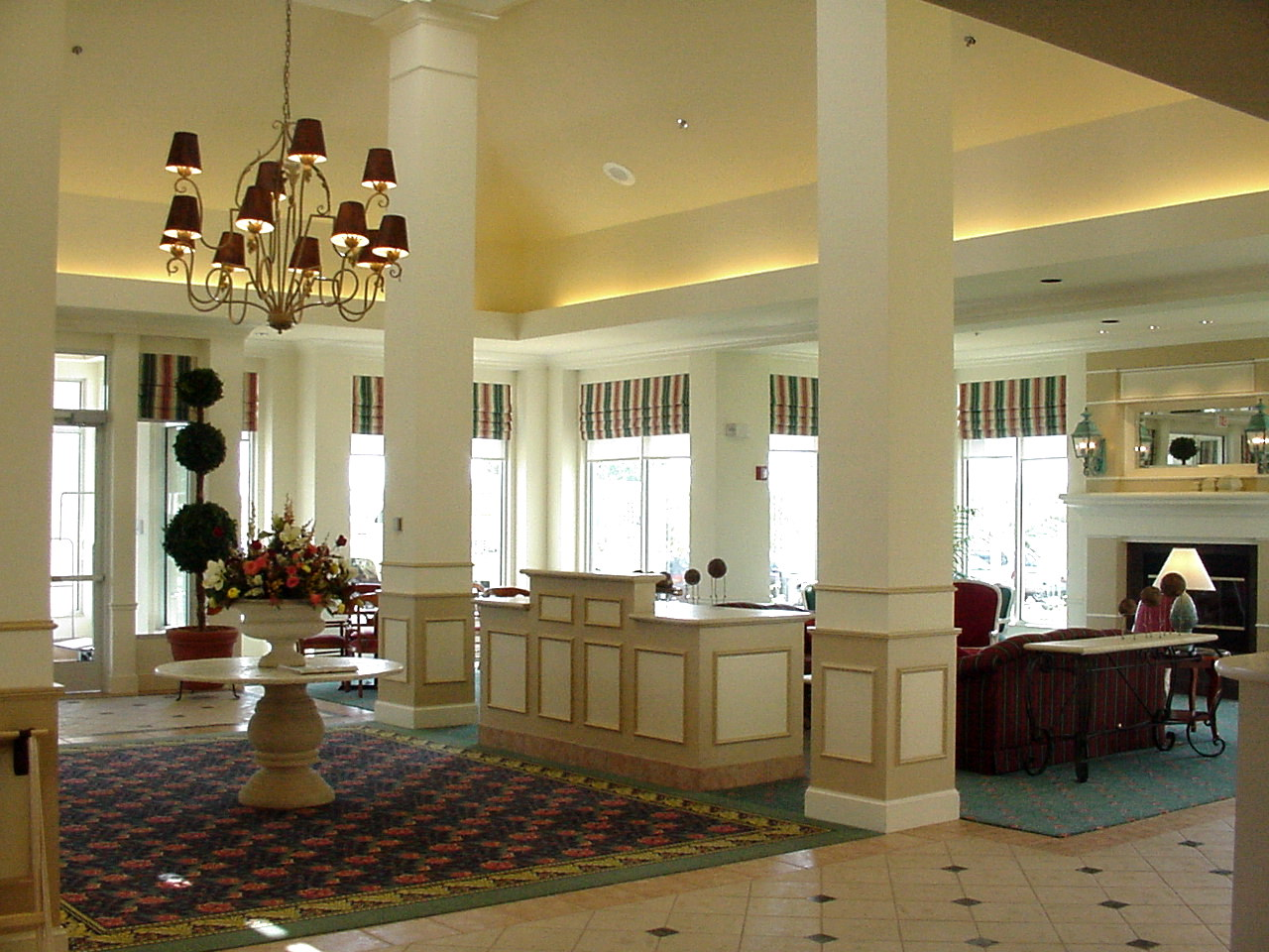 Lobby area in the Hilton Garden inn in Shoreview, MN