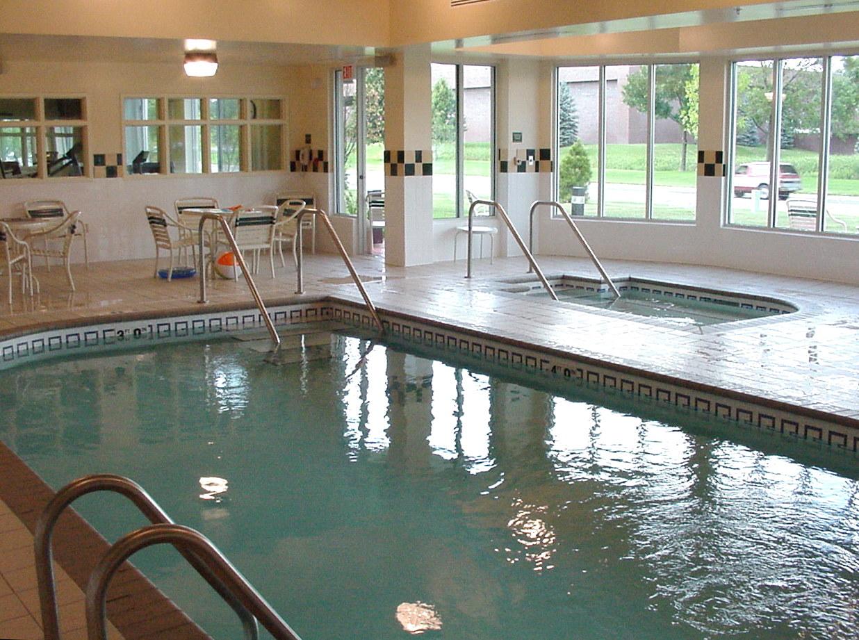 Pool area in the Hilton Garden inn in Shoreview, MN