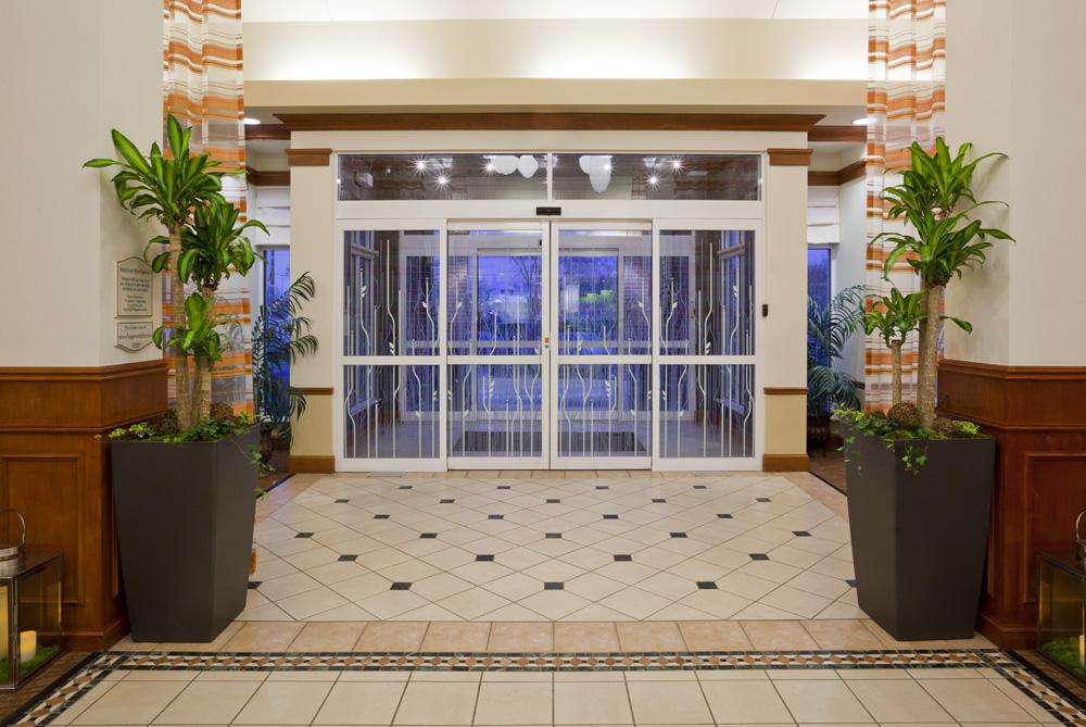 Inside front entrance area in the Hilton Garden Inn in Bloomington, MN