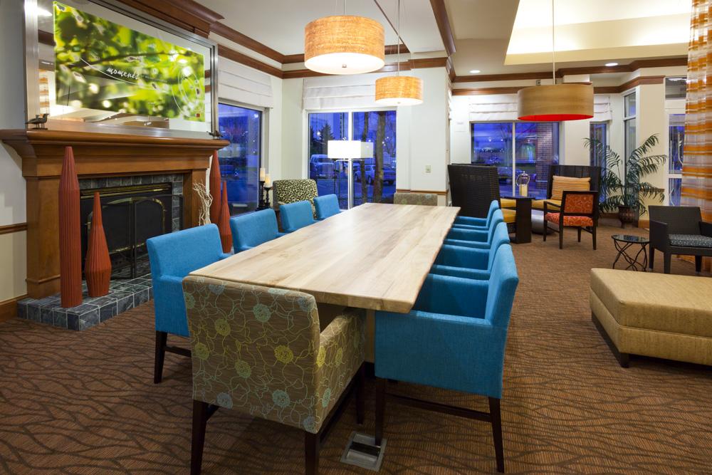 Seating area in the Hilton Garden Inn in Bloomington, MN