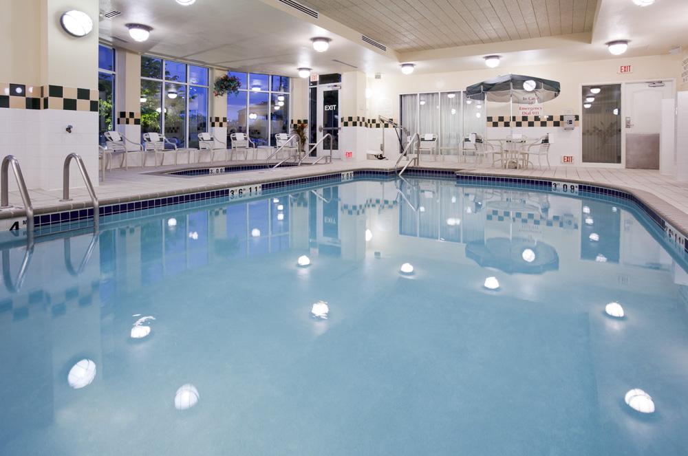 Pool area in the Hilton Garden Inn in Bloomington, MN