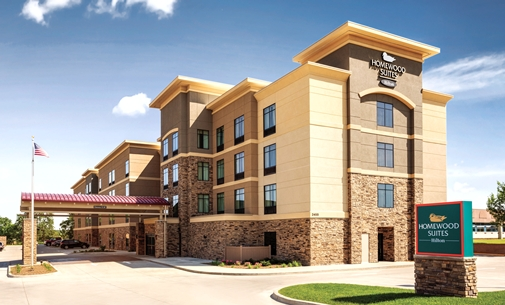 Outside view of the Homewood Suites in Ankeny, IA