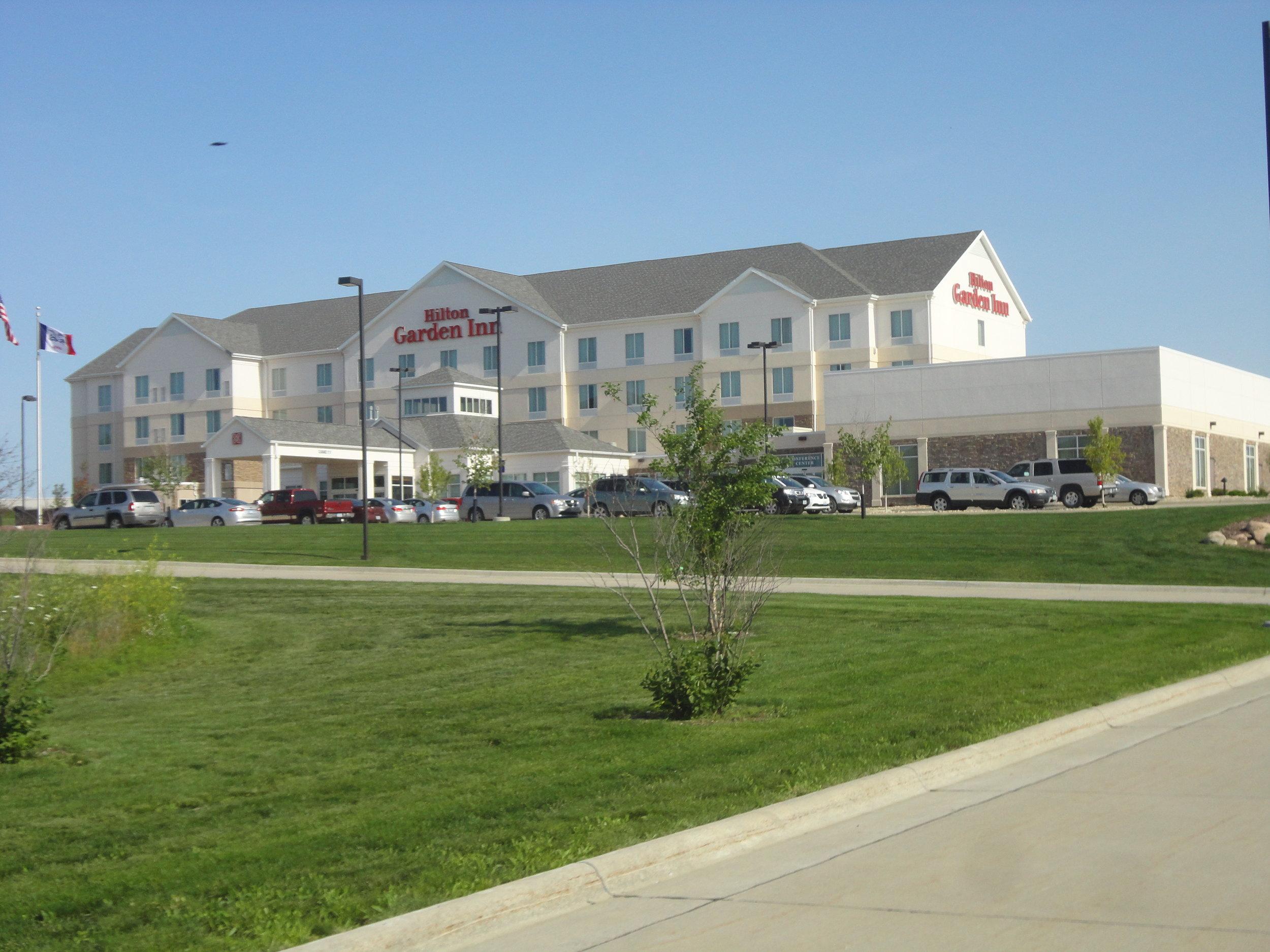 Outside view of the Hilton Garden Inn in Cedar Falls , IA