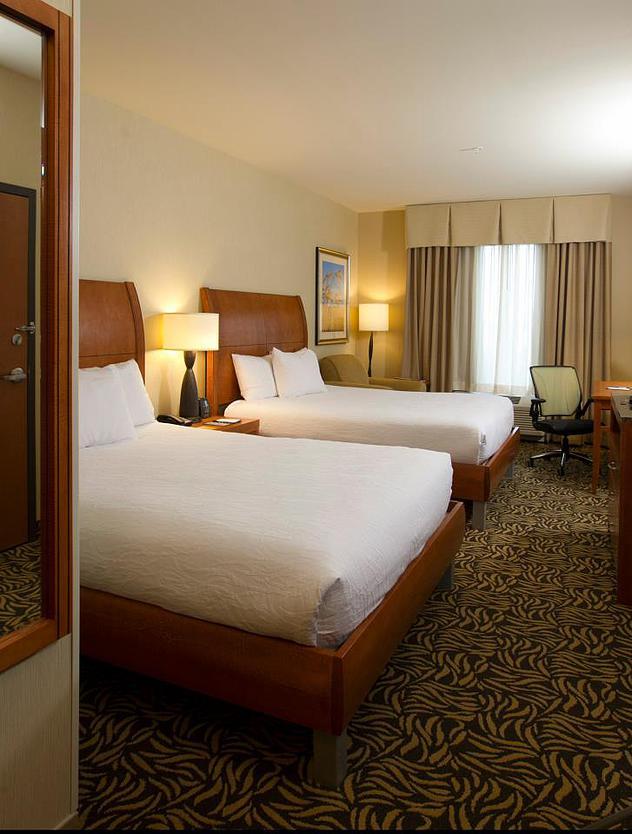 Bedroom in the Hilton Garden Inn in Cedar Falls , IA