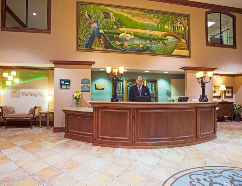 Front desk in the Holiday Inn in Lakeville, MN