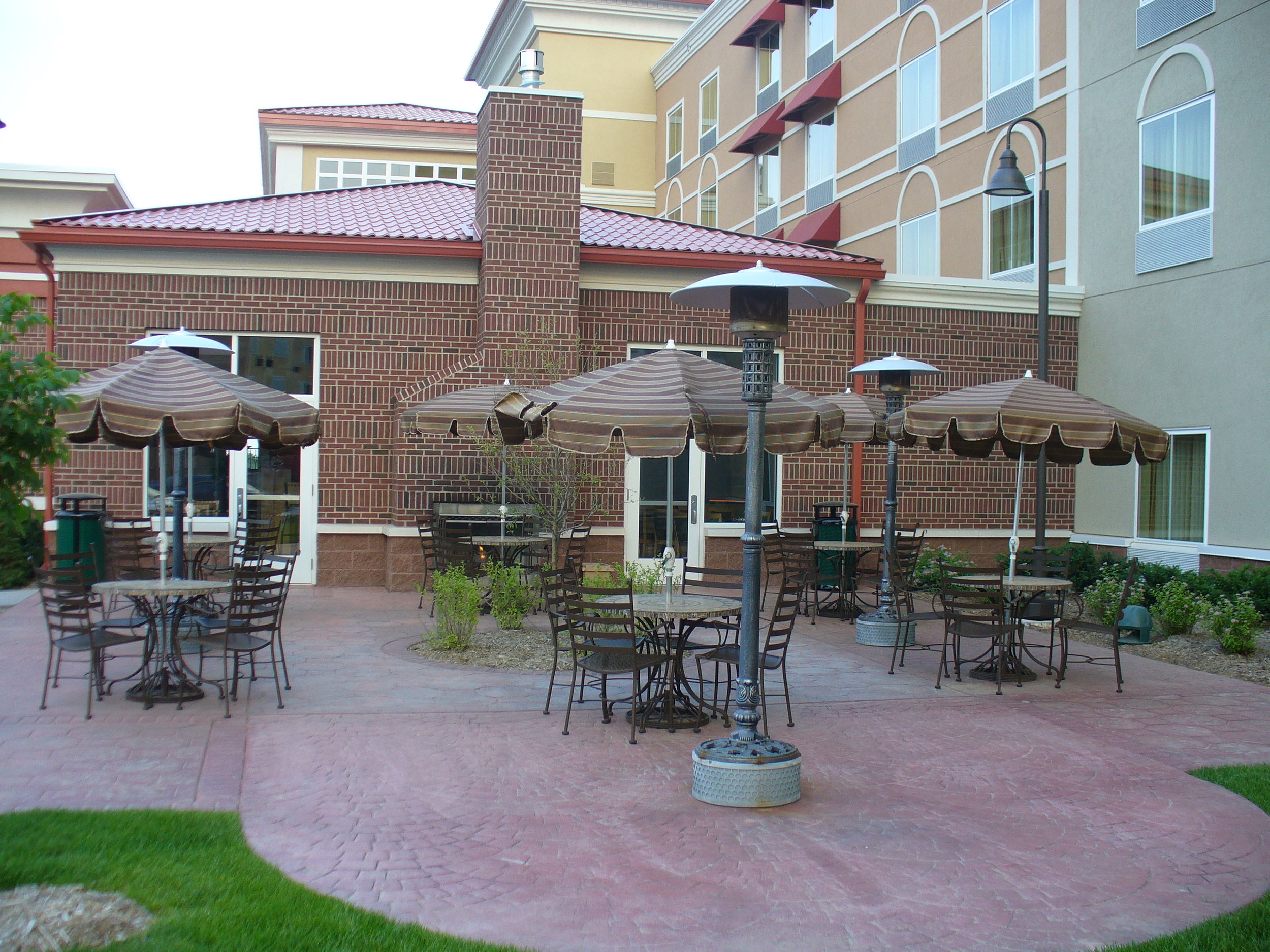 Outside patio area in the Holiday Inn in Maple Grove, MN