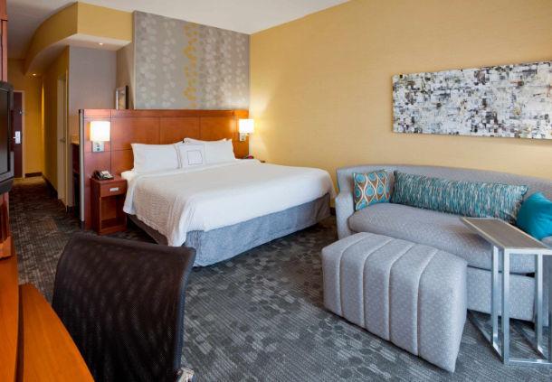 Bedroom in the Courtyard Marriott in Maple Grove, MN