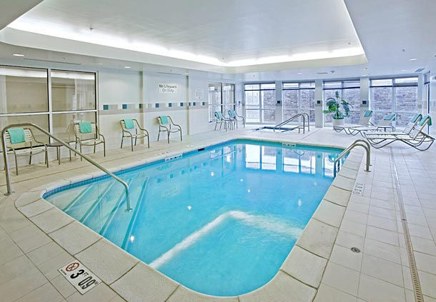 Pool area in the Courtyard Marriott in Ankeny, IA