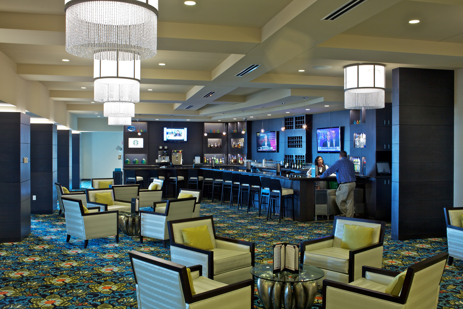 Seating area in the Prairie Meadows Resort and Casino in Altoona, IA