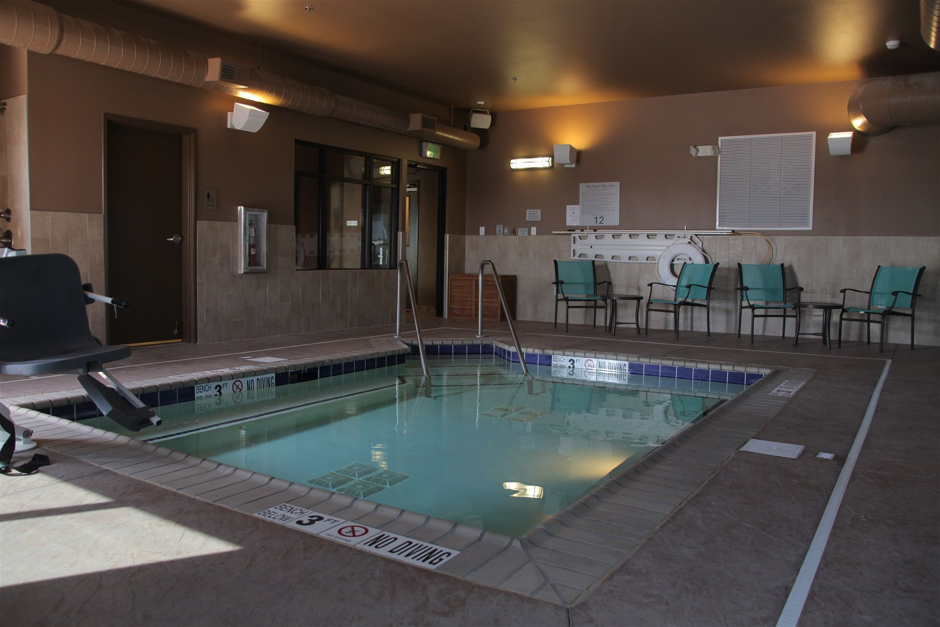 Pool area in the Teddy's Residential Suites in Watford City, ND