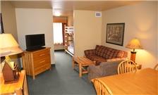 Bedroom at the Three Bears Resort in Warren, WI