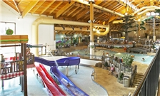 Inside pool and water park area at the Three Bears Resort in Warren, WI