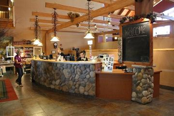 Front desk at the Three Bears Resort in Warren, WI