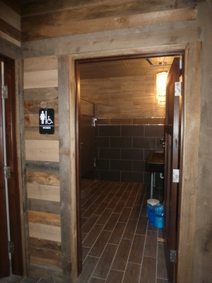 Outside the bathroom area at O'Neil's in Spicer, MN