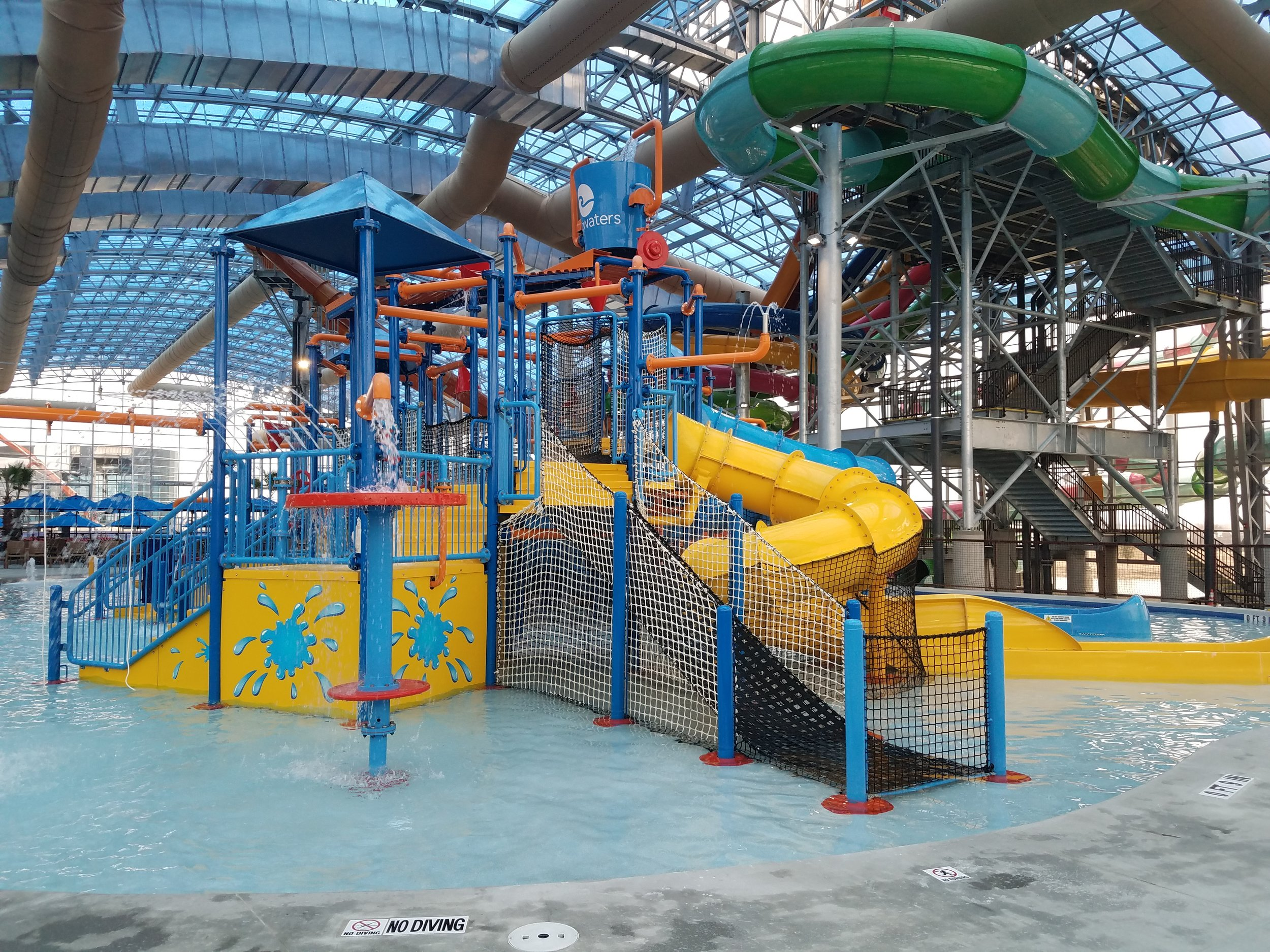Water play area at EPIC Waters