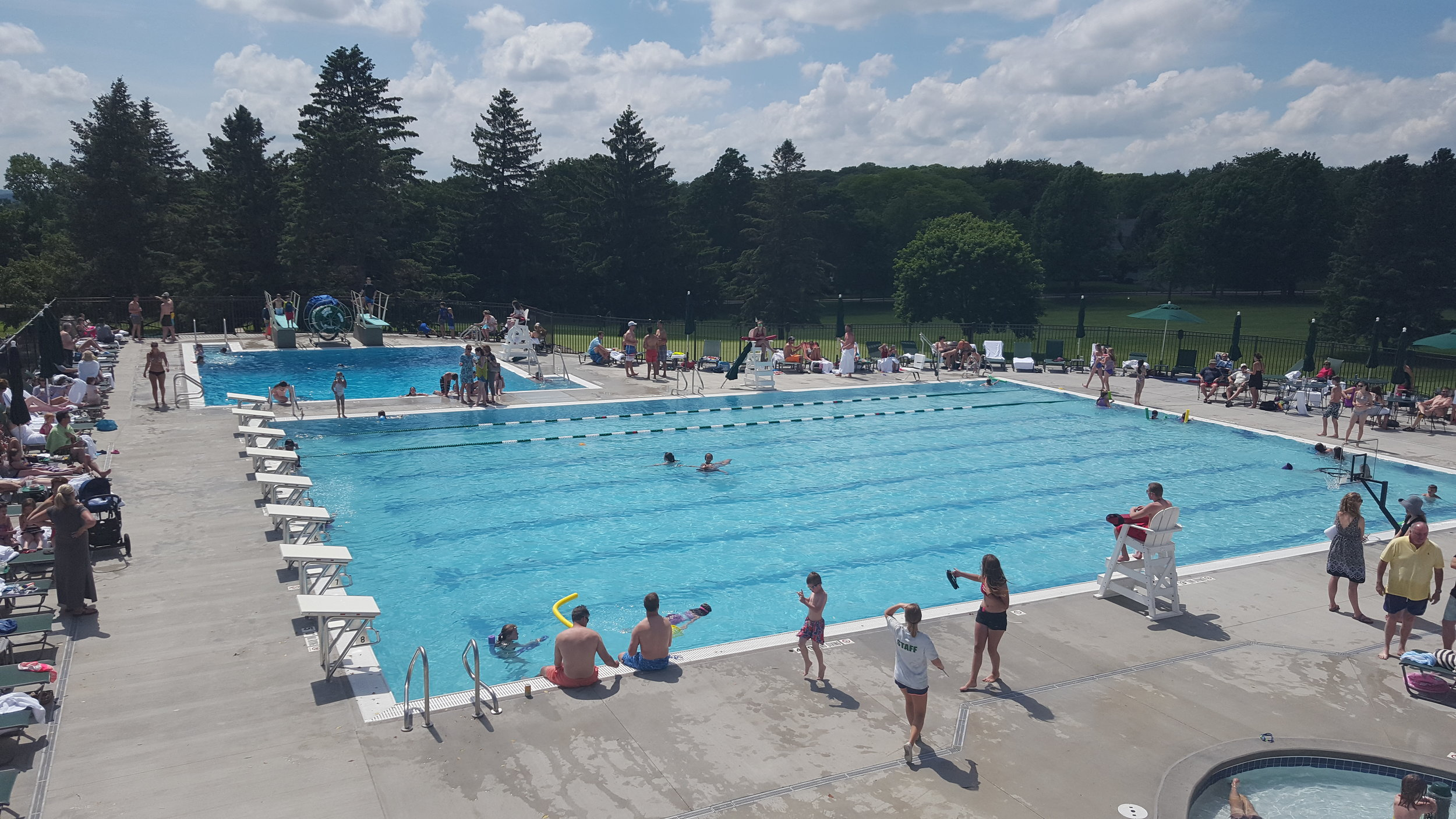 Pool area at Maple Bluff Country Club in Madison, WI