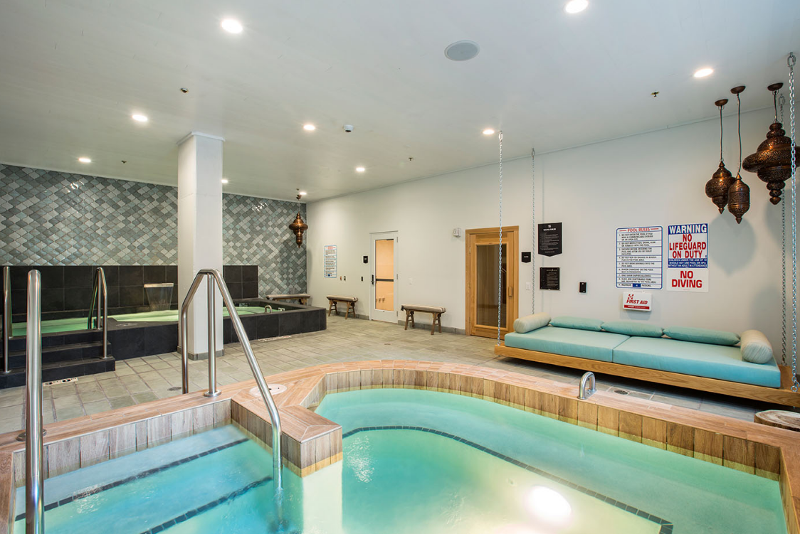 Indoor pool area at The HUB in Madison, WI