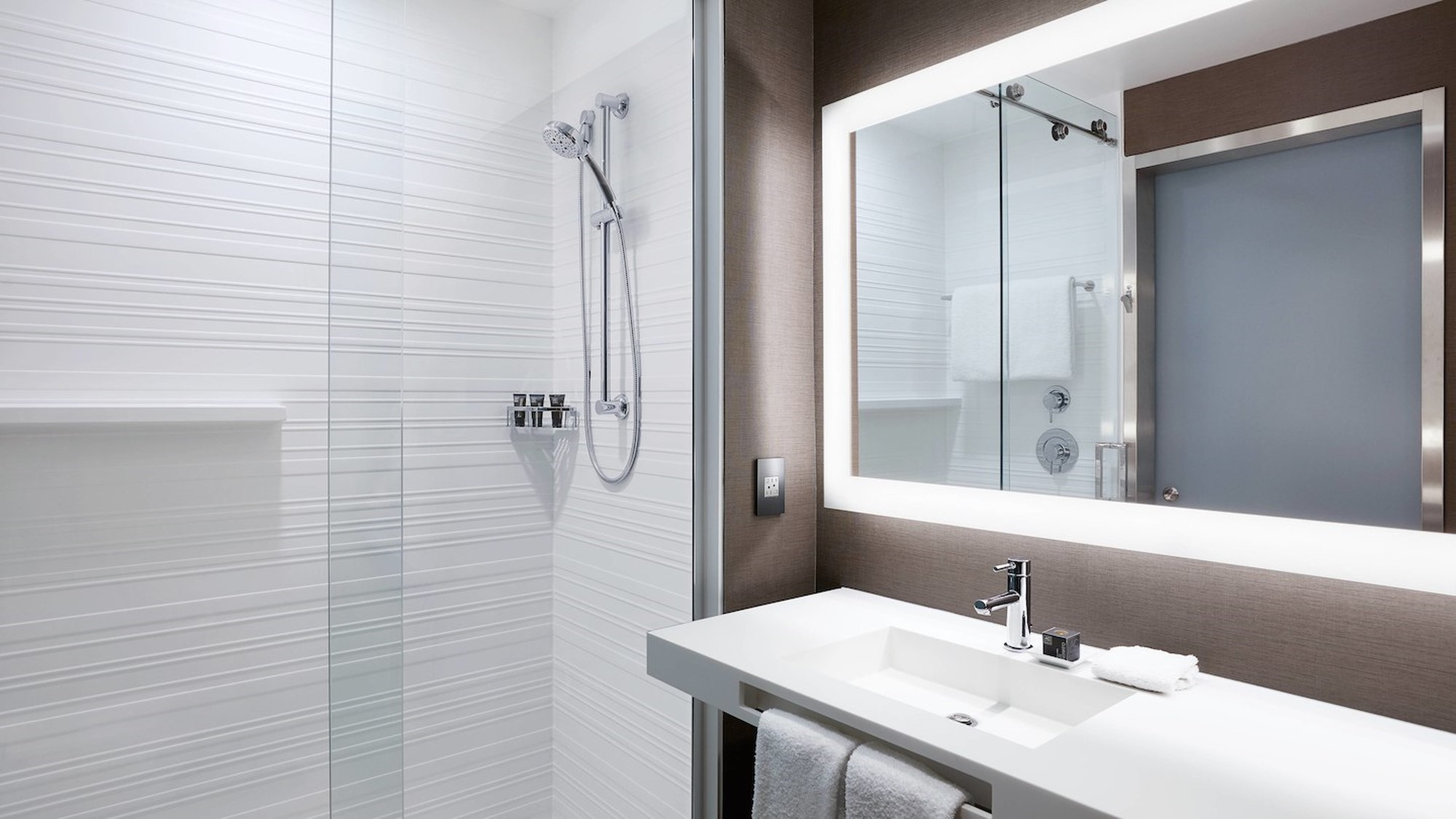 Guest bathroom in the AC by Marriott in St. Louis Park, MN