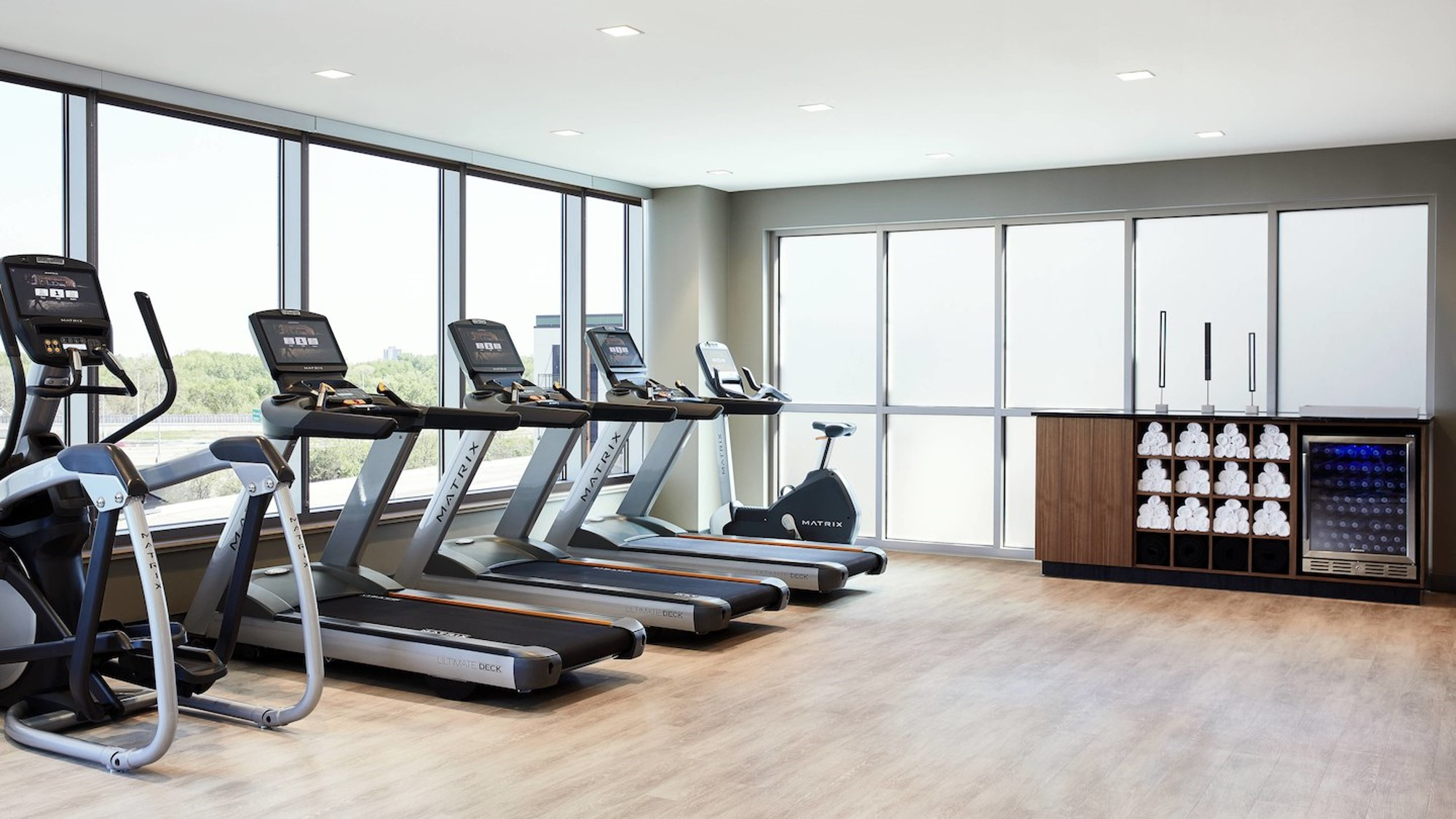 Fitness center in the AC by Marriott in St. Louis Park, MN