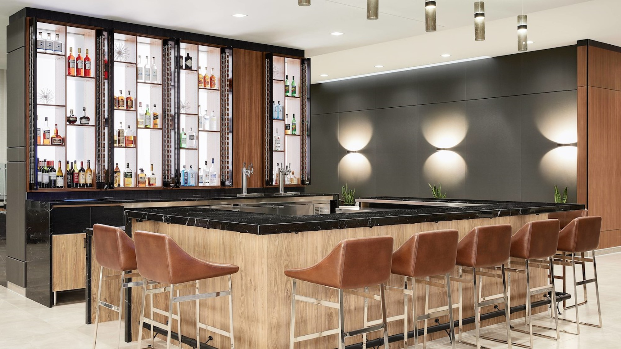 Bar area in the AC by Marriott in St. Louis Park, MN