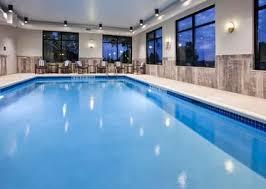 Indoor pool area in the Hampton Inn Hometown in Spicer, MN