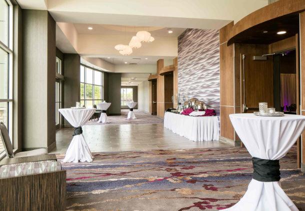 Area outside a banquet room in the Courtyard Hotel in Bellevule NB