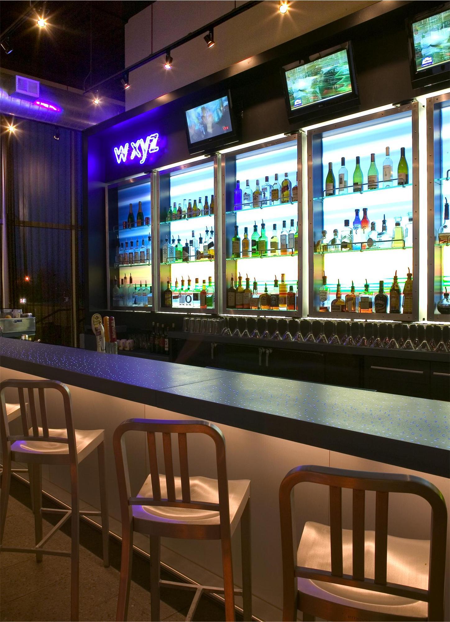 Bar area in the Aloft Hotel in Minneapolis, MN