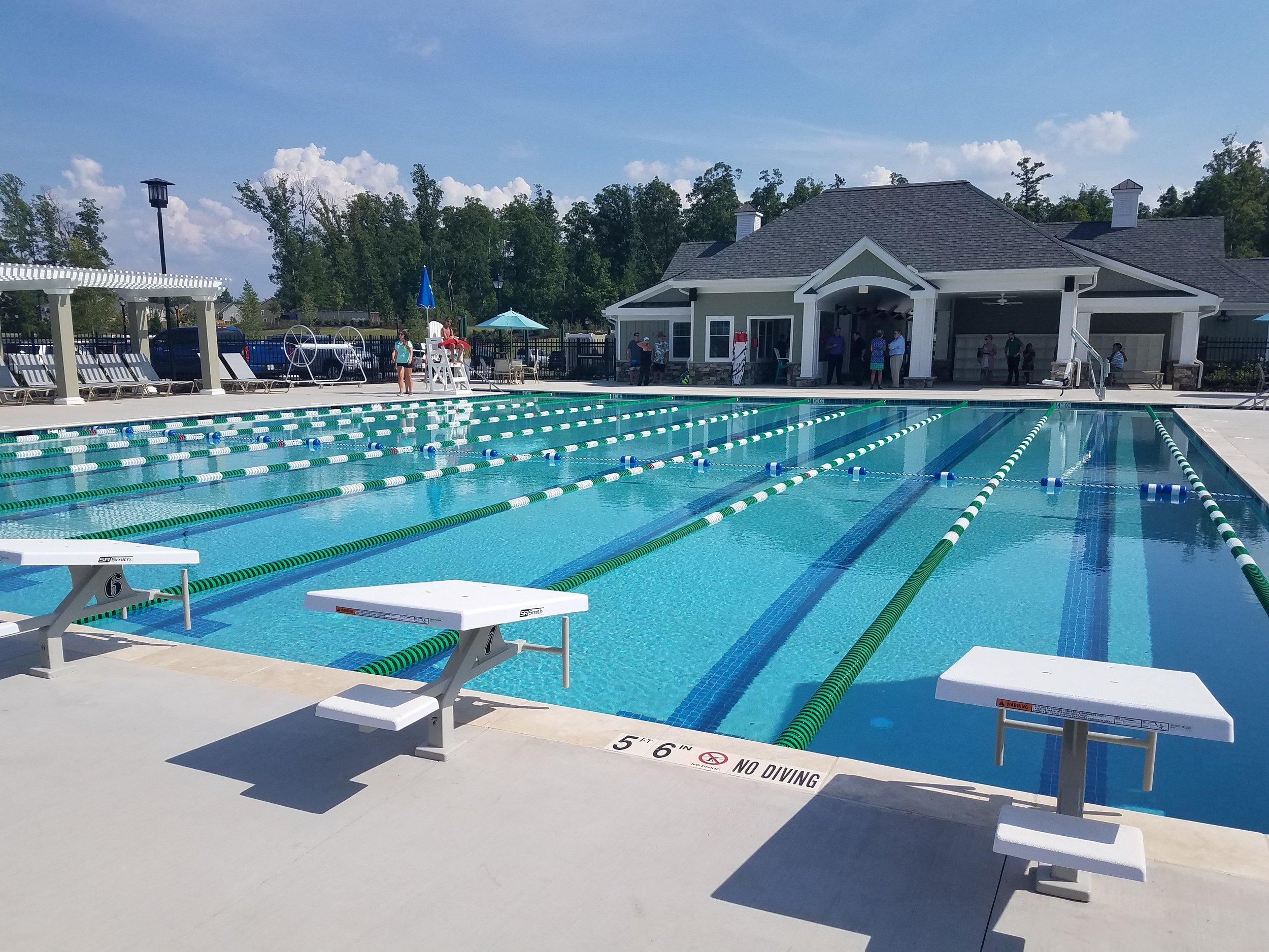 Lap pool at the Magnolia Green Aquatic Center in Moseley, VA