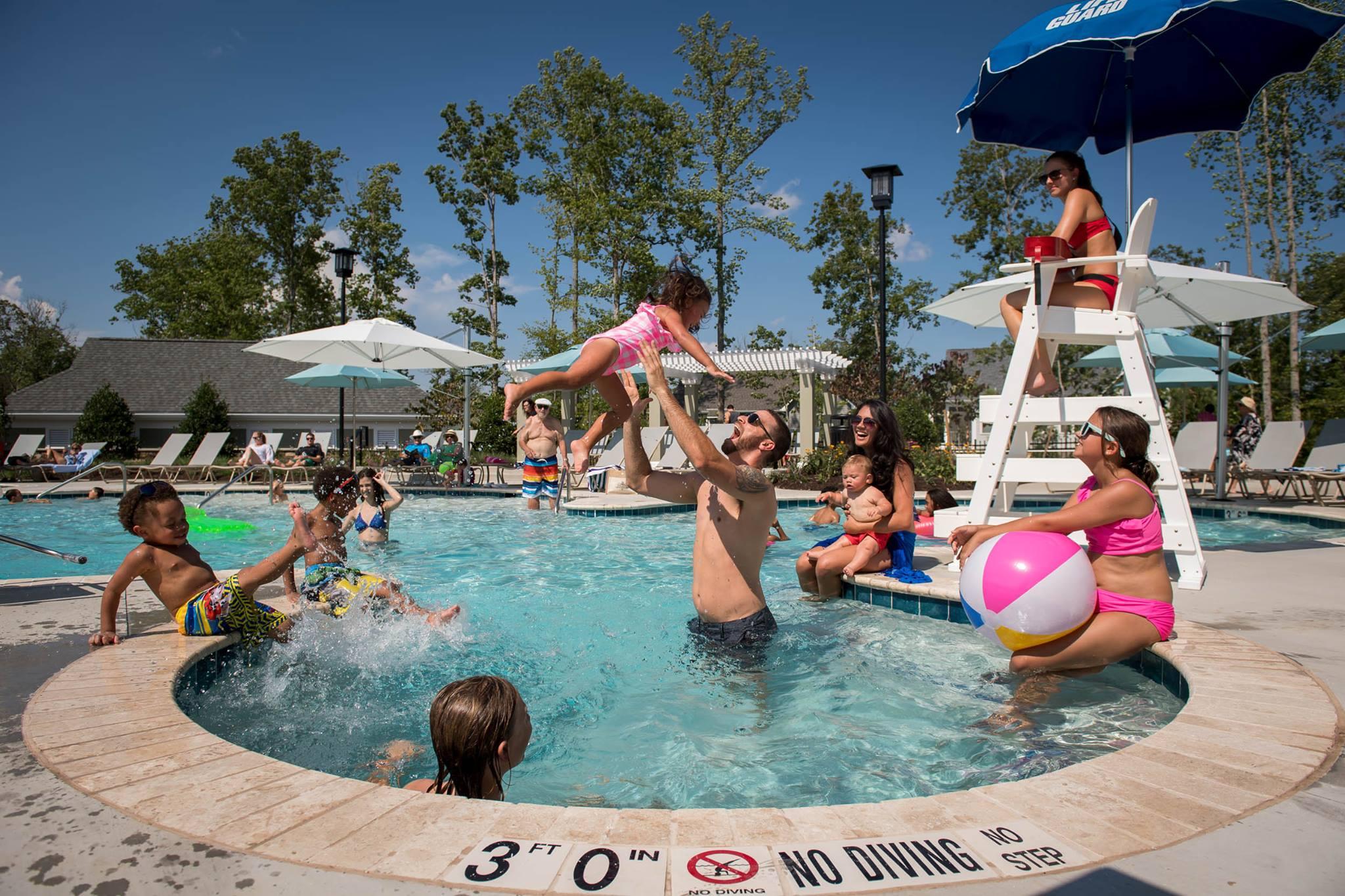 Hot tub at the Magnolia Green Aquatic Center in Moseley, VA