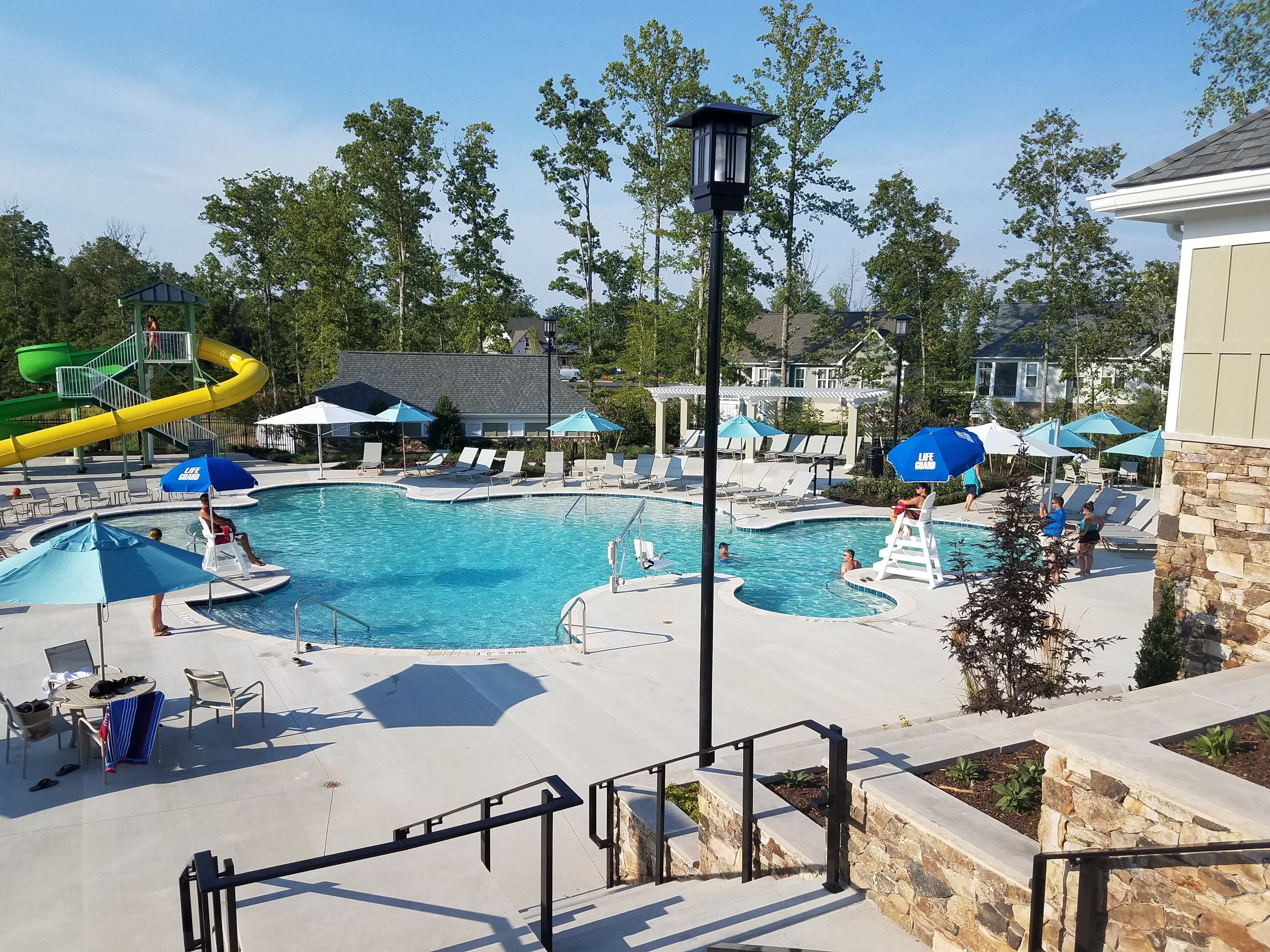 Pool area at the Magnolia Green Aquatic Center in Moseley, VA