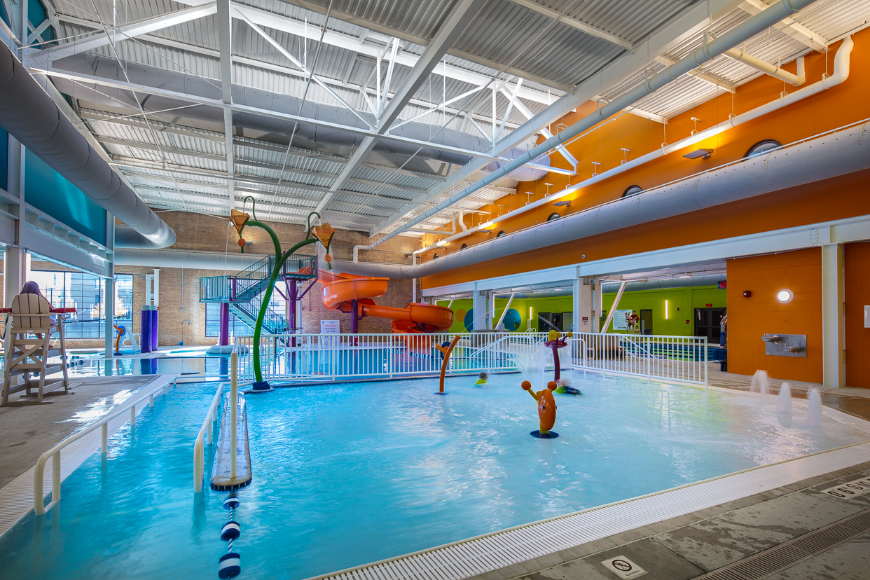 pool area at the Stateline Family YMCA in Beloit, WI