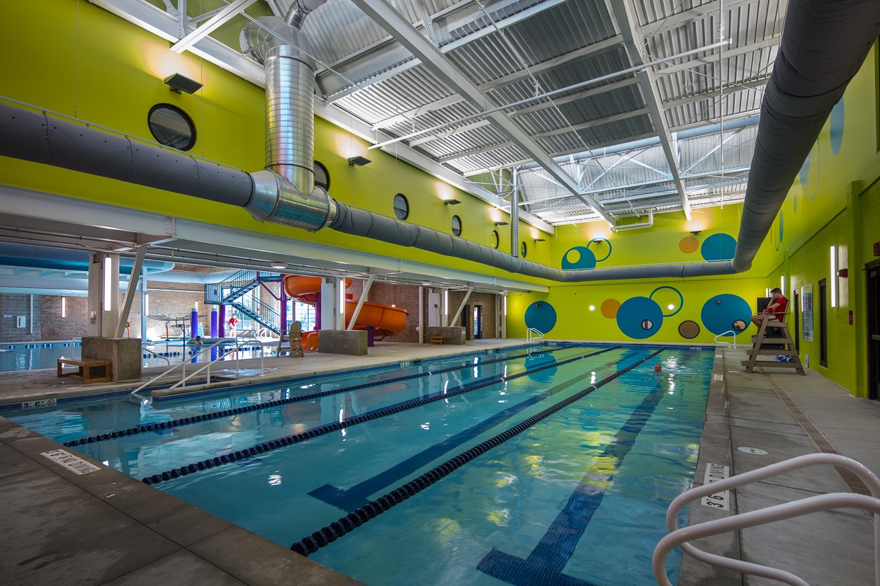 Lap pool area at the Stateline Family YMCA in Beloit, WI