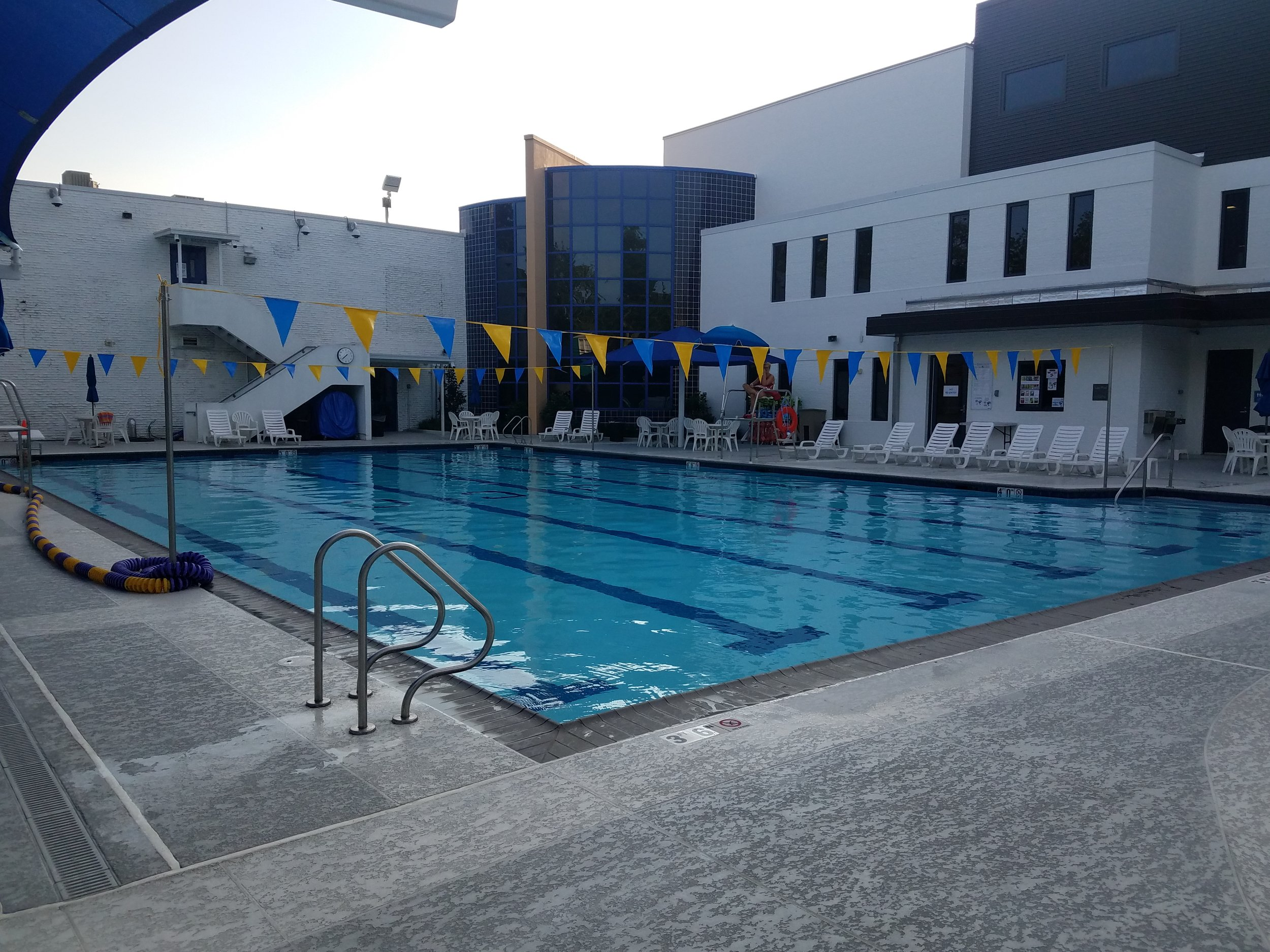 Lap pool area at New Orleans JCC in LA