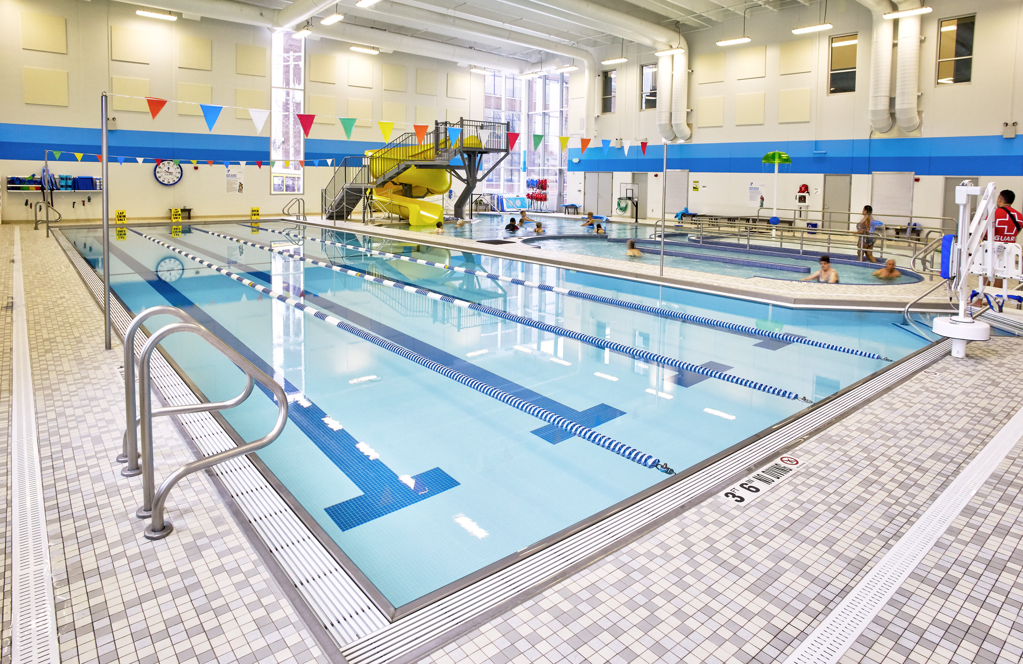 Lap pool at the St. Paul Midway YMCA in MN