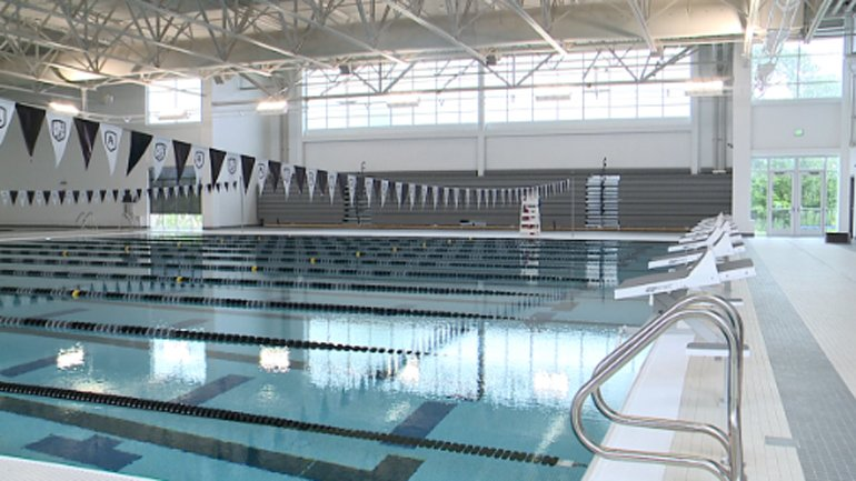 Indoor lap pool area at St. Augustine Prep Academy in Milwaukee, WI