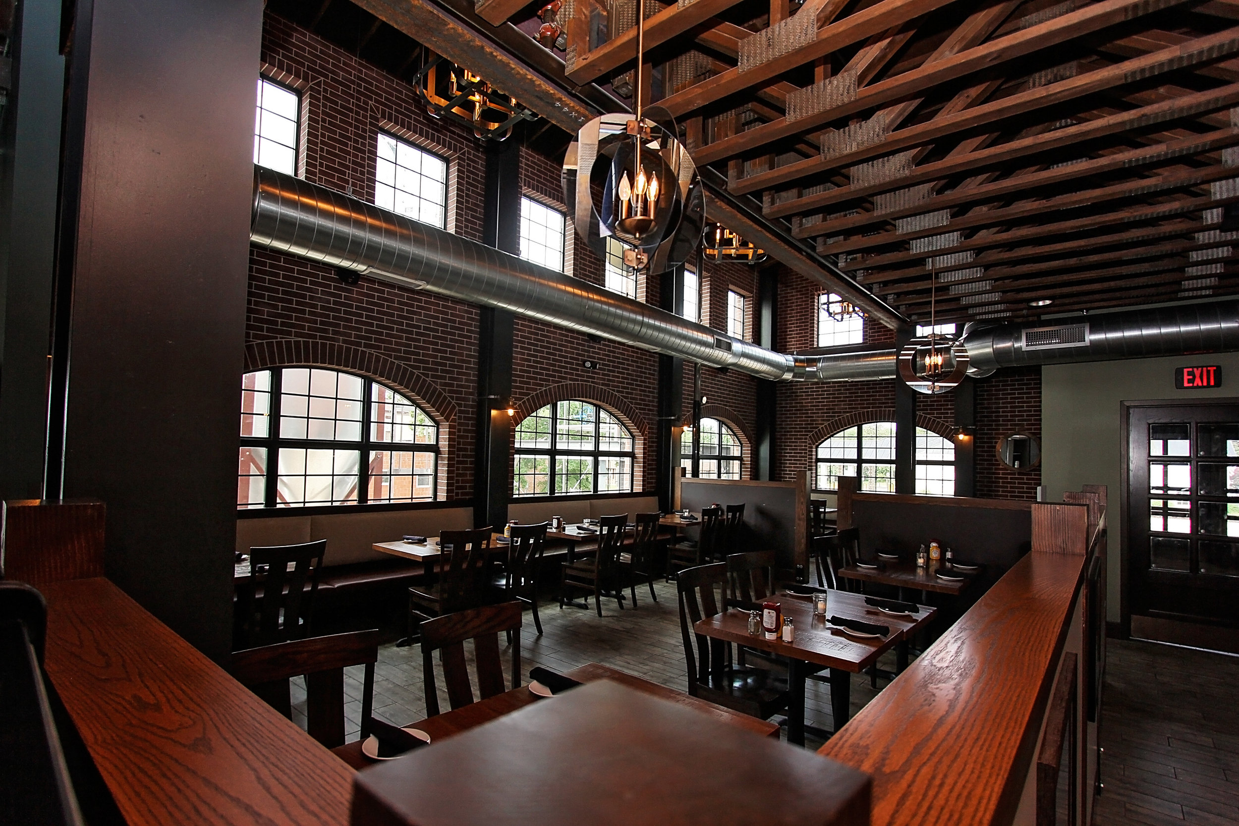Inside seating area at Vintage Brewery Bar & Restaurant