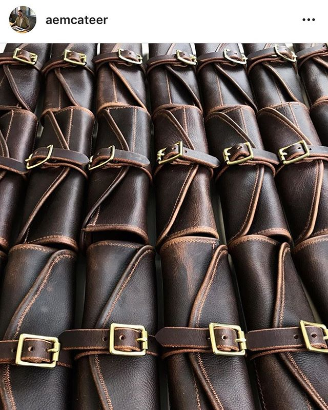 @aemcateer coming through huge on steak knife rolls for me. Check out his beautiful leatherwork handmade in NYC.