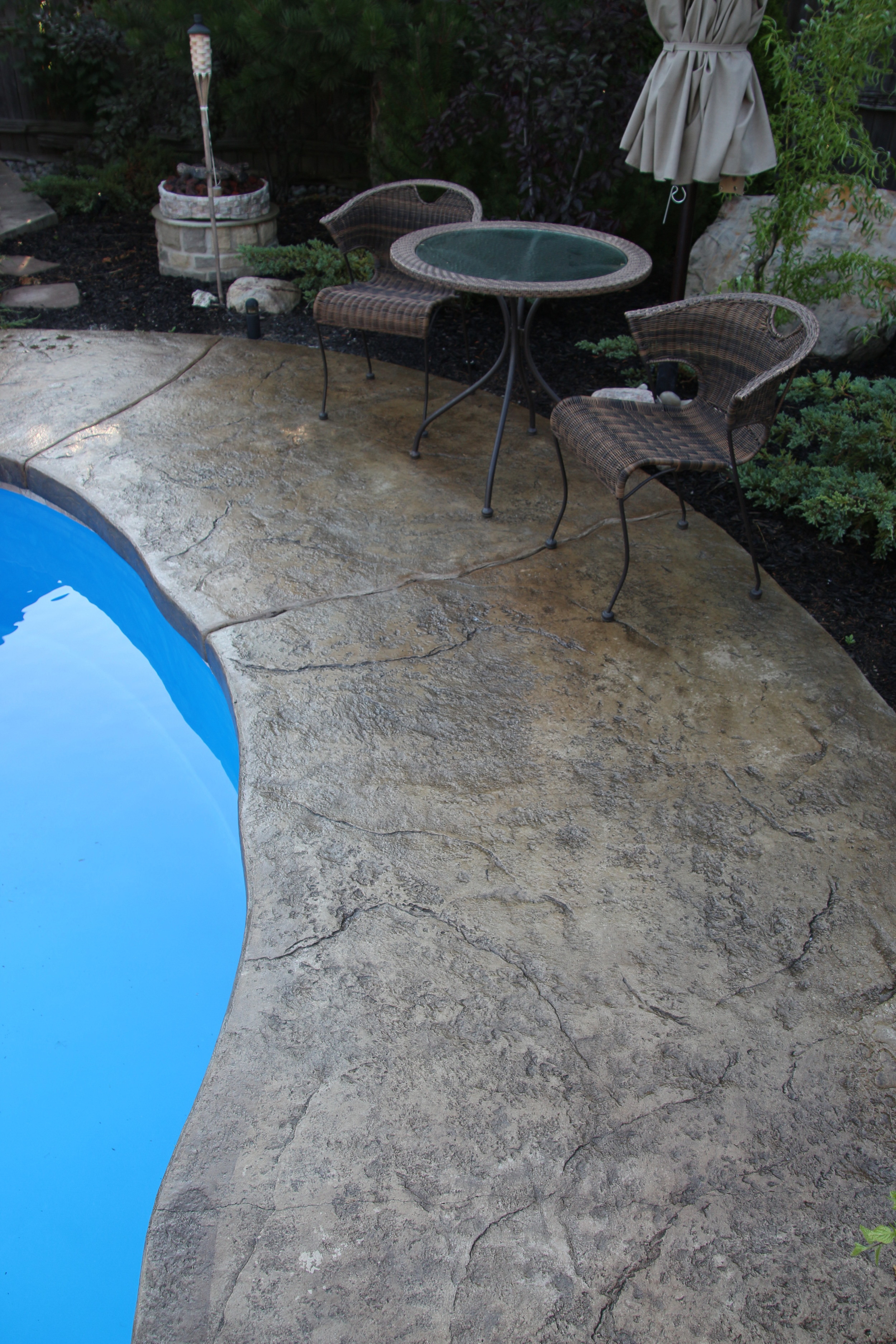 Pool Patio - Stamped Concrete
